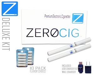 DELUXE E Cigarette Starter Kit | 2 Batteries | 2X Refill Packs