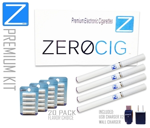 The PREMIUM E Cigarette Starter Kit | 4 Batteries | 4X Refill Packs | Carrying Case | FREE Shipping -Domestic Only