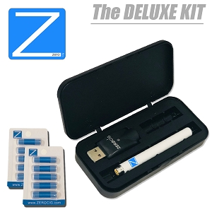DELUXE E Cigarette Starter Kit Includes 2X Refill Packs
